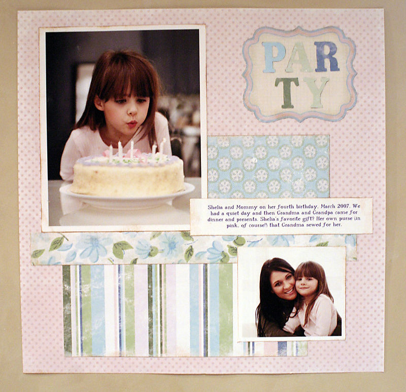 Ambiente scrapbook kit - party layout