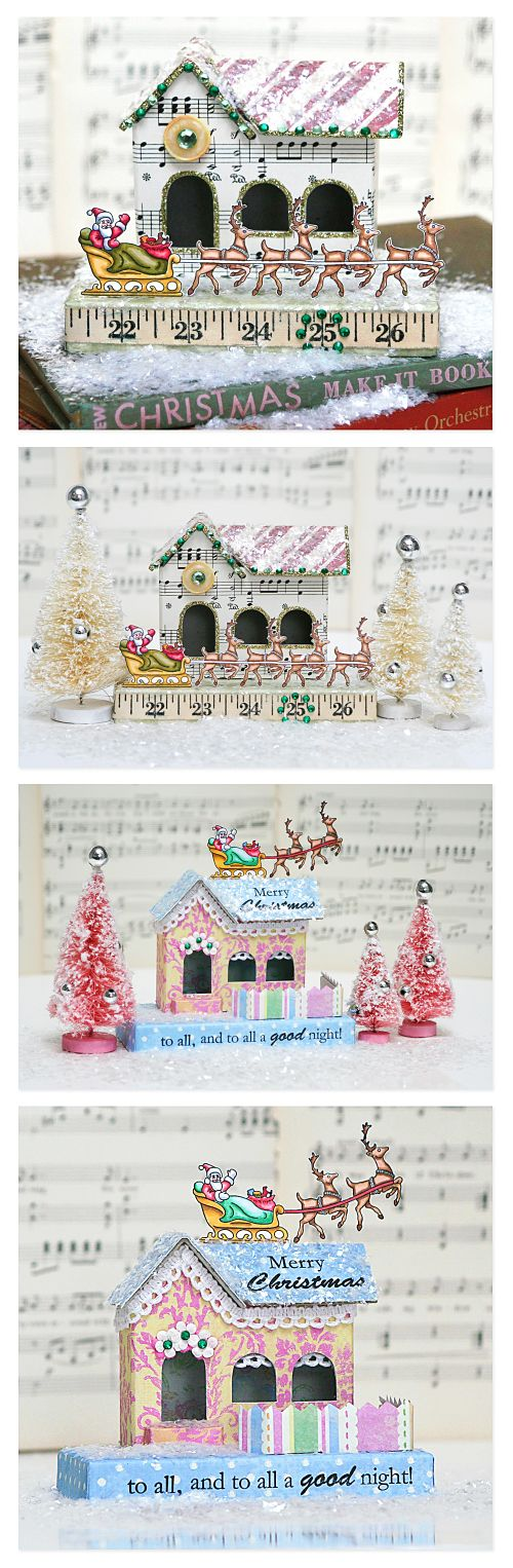 Pink Persimmon Christmas houses
