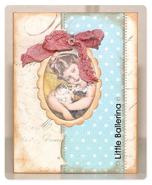 Card - little ballerina