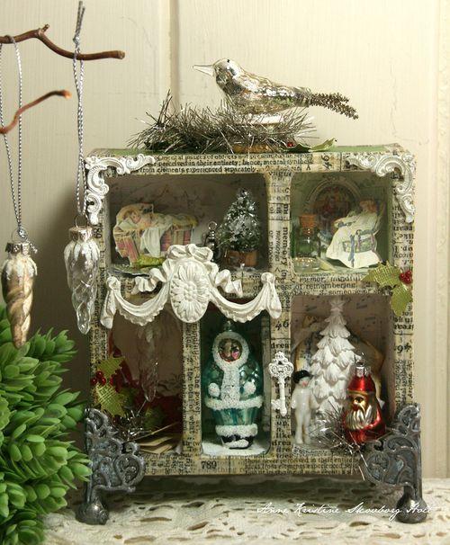 Anne Kristen christmas shadow box
