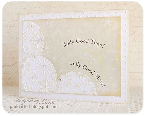 Card - pink latte jolly good time