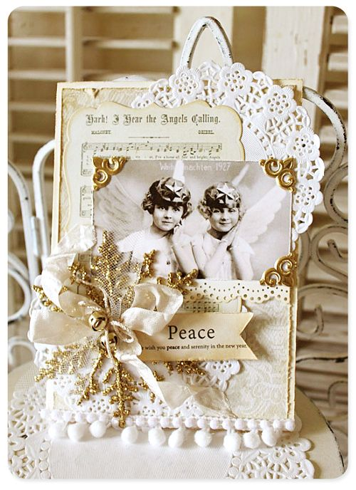 Christmas collage card 4