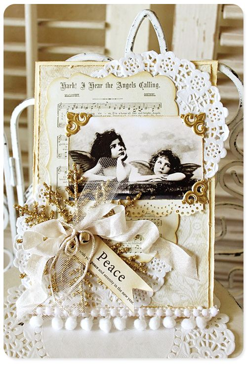 Christmas collage card 3