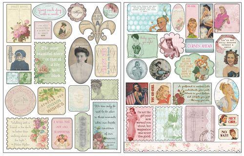 C'est la vie cardstock stickers for blog