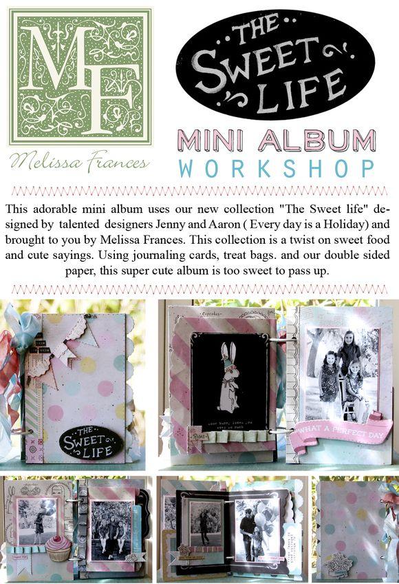 The sweet life mini album poster smaller for blog