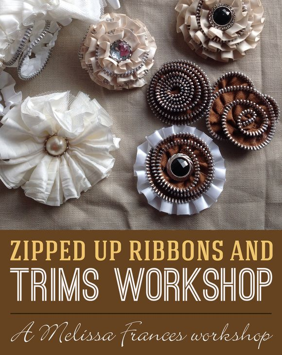Zipped up ribbons and trims