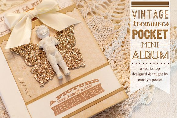 Vintage treasures pocket album preview photo