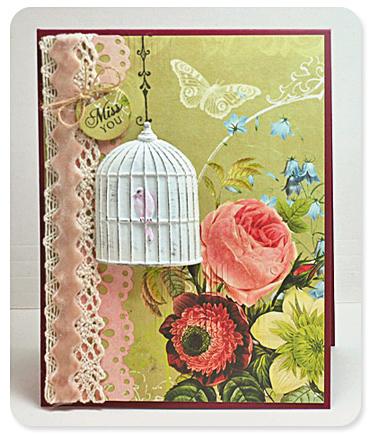 Card - birdcage