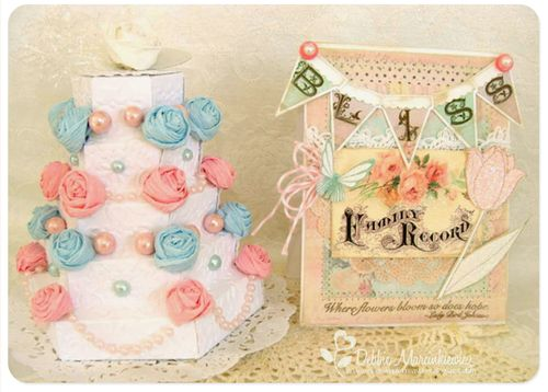 Bliss card and cake together